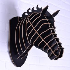 horse sculpture,Horse head for wall decoration,mdf decorative,DIY wooden crafts,novelty items,animals head wall,wood horse craft-in Crafts f...
