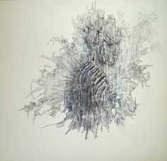 Noise II 2012 Fine liner, ink and charcoal 50 x 50 cm Dandelion, Ink, Abstract, Artwork, Flowers, Charcoal, Google Search, Summary, Work Of Art