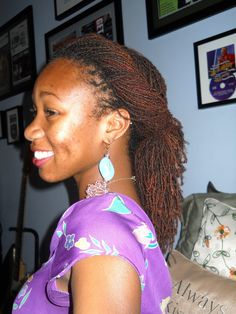 Sisterlocks Hairstyle (Updo) Lovely Sisterlocks #dreadlocks +dreadstop @DreadStop - One Love.