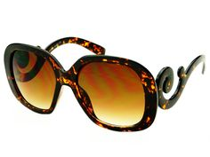 f340a9874585 Retro Baroque Square Swirl Oversized Womens Sunglasses Tortoise – FREYRS - Beautifully  designed