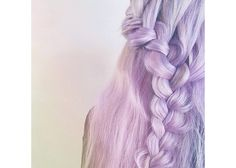 A lace braid looks even more dramatic in bright purple!