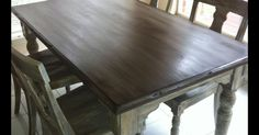 Some wood doesn't accept stain and get the color you want... Sometimes you just want an aged weathered look... I have found over the past year the wonderful cha…