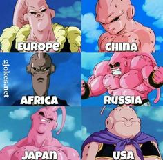 "You gotta live with a ""Majin Buu-ly"" in America! Dbz Memes, Memes Br, Buu Dbz, Dragon Ball Gt, Stupid Funny Memes, Super Funny, Pikachu, Naruto, Funny Pictures"