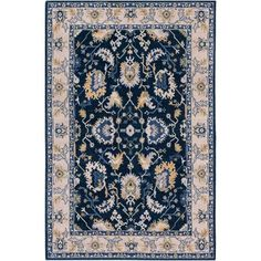 Kansai Blue and Gray Rectangular: 5 Ft. 3-Inch x 7 Ft. 6-Inch Rug - (In No Image Available)