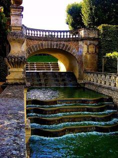 waterfall gardens, villandry, france.