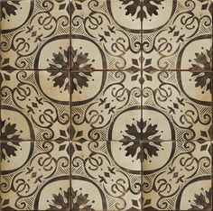Hand-painted terra-cotta tile. Paris Metro 12 oxford on latte