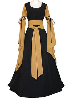 Cosplayitem Medieval Victorian Dress for Women Cosplay Dresses Trumpet Sleeves…