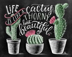 Cactus Print Succulent Print Cactus Art Print Cactus Wall Art Life Is Like A Cactus Cactus decor Chalk Art Chalkboard Art Cactus Quotes, Decoration Cactus, Cactus Wall Art, Cactus Cactus, Indoor Cactus, Garden Cactus, Cactus Gifts, Chalkboard Print, Chalkboard Decor
