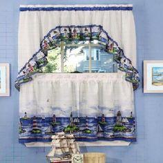 Lighthouse Bathroom Decor | nautical curtains | eBay – Electronics, Cars, Fashion
