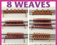 8 Classic Wire Weaves PDF tutorial Creating woven wirework is one of the basic skills any wire-wrapping jewelry maker should have in their arsenal. This tutorial shows step by step how to weave 8 weaves most commonly used by wire wrappers, so that you can Wire Crafts, Jewelry Crafts, Handmade Jewelry, Stamped Jewelry, Earrings Handmade, Bijoux Wire Wrap, Wire Wrapped Jewelry, Wire Tutorials, Jewelry Making Tutorials