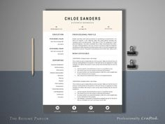 great resume 4 page manager ii creativework247 fonts graphics themes - Resume Fonts