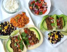 Street Tacos + Spanish Fried Quinoa & Black Bean Salad