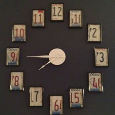 My license plate clock :) Figured it was time to post a pic of my craftiness & and not just borrow others ideas