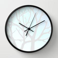 Winter Tree Wall Clock by Morgan Ralston on Society6.
