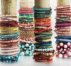 Chan Luu wrap bracelets.