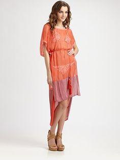 Look...the perfect beach dress.  Diane von Furstenberg - Striped Beach Dress - Saks.com #SaksLLTrip