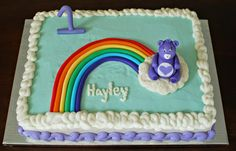 Care Bear 1st Birthday Cake by Snacky French