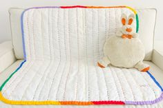 This item is unavailable Rainbow Quilt, Dry Well, Baby Wraps, Hand Quilting, Baby Quilts, Floor Chair, Hand Stitching, Cover, Cribs