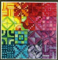 Clique aqui para ver a imagem ampliada de Color Delights - Rainbow (gráfico de canvas contadas)