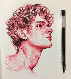 Credit to the artist – Art Sketches Kunst Inspo, Art Inspo, Pencil Art Drawings, Art Sketches, Sketch Drawing, Sketching, Drawing Ideas, Biro Drawing, Biro Art