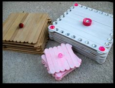 This is so cute and a cheap craft! Using popsicle sticks, paint, gems and anything else! You can have a jewlery box!