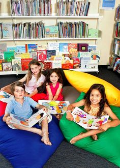 Jumbo Indoor Colourful Cushions for Library or at Home, great fun when learning... and reading class