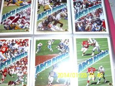 "NFL Football Cards ""Arch Rivals ""  6 Card Lot    Upper Deck  1991"