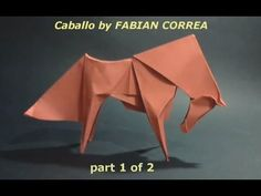 #44 Origami Caballo (horse) by Fabian Correa (part 1 of 2) - Yakomoga Origami tutorial - YouTube