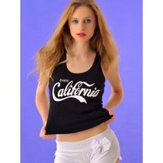 Camiseta de Tirantes Mujer California Online T315 Crop Tops, Tank Tops, Graphic Tank, California, T Shirt, Women, Fashion, Hot Clothes, Clothes Shops
