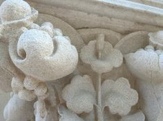 Stone detail, front porch