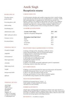 find this pin and more on receptionist resume medical receptionist - Medical Receptionist Resume