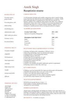 Medical Receptionist Template Job Description Resume Sample