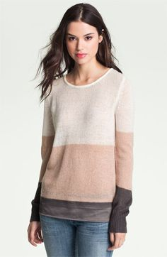 Hinge® Satin Needle Punch Sweater available at #Nordstrom