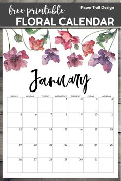 Watercolor flower design calendar pages for a office or home calendar for work or family organization. sayings for cards free printable 2020 Free Printable Calendar – Floral To Do Planner, Free Planner, Planner Pages, Planner Template, Workout Calendar Printable, Printable Calendar Pages, Free Printable Calendar Templates, Stationary Printable, Agenda Planner
