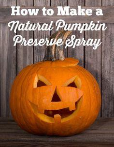 How to Make a Natural Halloween Pumpkin Preserve Spray  - #DIY #essentialoils - DontMesswithMama.com