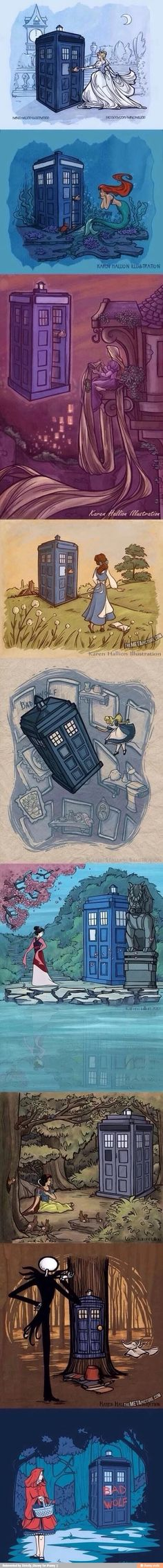 Doctor who and Disney princesses.
