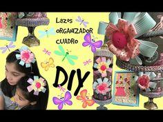 Ideas para niñas/Lazos, organizador, cuadros scrapbook DIY - YouTube