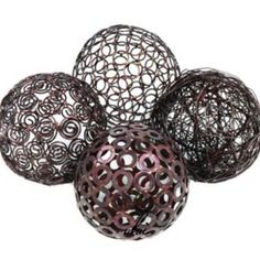 modern sphere table decor decorative metal wire spheres decorative balls decoballs for - Decorative Orbs