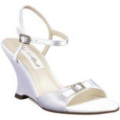 Open White Dress Shoes | Coloriffics Wedge Wedding Shoes
