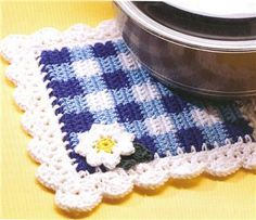 Crochet Pattern Country Gingham Afghan | eBay
