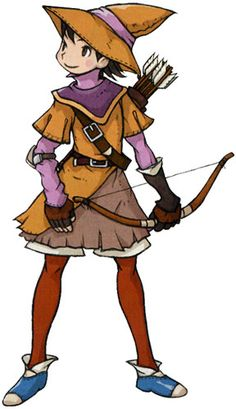 View an image titled 'Human Archer Art' in our Final Fantasy Tactics Advance art gallery featuring official character designs, concept art, and promo pictures. Archer Characters, Manga Characters, Character Costumes, Character Art, Character Design, Final Fantasy Tactics Advance, Geek Games, Art Pictures, Unique Art
