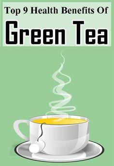Top 9 Health Benefits Of Green Tea Health Benefits, Health Tips, Green Tea Benefits, Home Health, Coffee Drinks, Drinking Tea, Rage, Fun Facts, Weight Loss