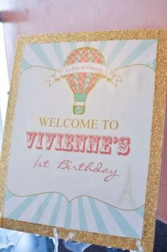 Vintage Hot Air Balloon Birthday Party Ideas | Photo 10 of 15 | Catch My Party