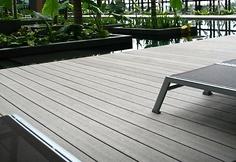 MYDECK: Vertigrain basalt grey, Crown Plaza Singapur