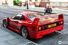 Ferrari in London, United Kingdom Spotted on by BrianKoelenPhotography Car Game, Classic Mustang, Exotic Sports Cars, Ferrari F40, Sexy Cars, Amazing Cars, Car Pictures, Sport Cars, Cars Motorcycles