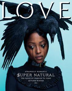 Nyasha Matonhodze stars on the cover of LOVE magazine's AW11 issue  #fashion #photography