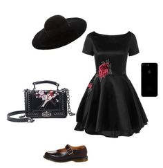 """""""All black!🙅🏿"""" by oceane-vallieres on Polyvore featuring mode, Dr. Martens et Eugenia Kim"""