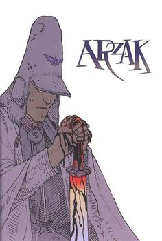 Arzak, from the back matter of Arzak: L'arpenteur(2011), followed by a previously drawn penciled version. 6690 268f 500