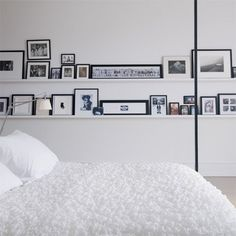 graphic white bedroom