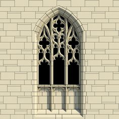 Arched Gothic Window on Behance Cathedral Architecture, Gothic Architecture, Classical Architecture, Landscape Architecture, Architecture Design, Historic Architecture, Gothic Windows, Church Windows, Architecture Drawing Sketchbooks